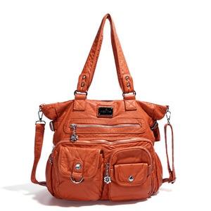 Image 4 - Multi Pocket Luxury Soft PU Leather Shoulder Bags for Women Large Capacity Shopping Crossbody Hobo Bags European Tote Handbag