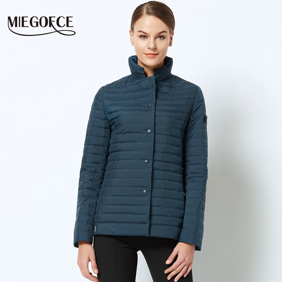 New Spring Collection Of Jacket Miegofce Stylish Windproof Women's Parka Coat Female Spring Jacket Coat Womens Quilted Coat