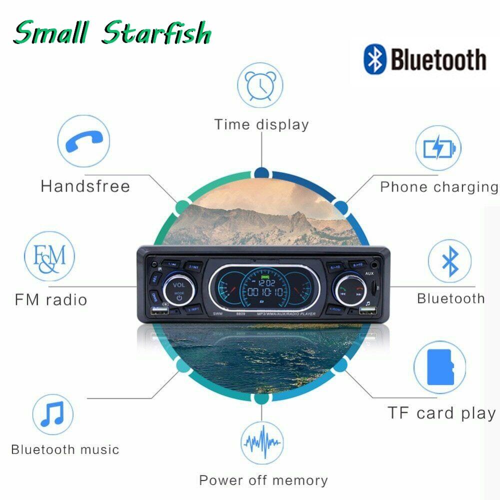 Autoradio 1 Din stéréo Audio Bluetooth lecteur de Cassette de voiture-8809 télécommande lecteur MP3 AUX/TF/USB FM Bluetooth HD autoradio