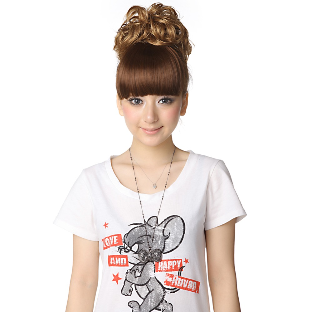 1pcs Synthetic Clip In Bangs Hair Side Fake Fringe Bangs 2clips