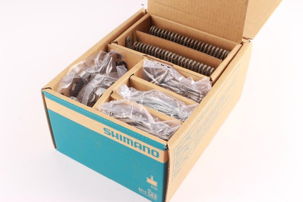 25 pares/50 Pares B01S Originais SHIMANO MTB Freio A Disco Pastilhas de Resina