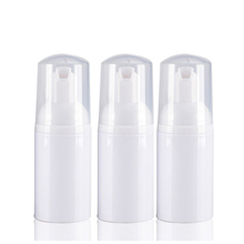 25pcs/lot 30ml 1oz Empty White Transparent cosmetic facial Cleanser wash liquid soap Foam bottle
