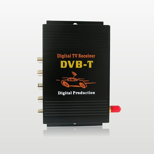 4 sortie vidéo monoantenne mobile tv numérique tuner récepteur mpeg-4 voiture dvb-t avec amplificateur d'antenne
