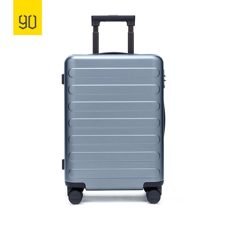 Xiaomi 90FUN 100% PC Valise Effectuer sur Spinner Roues Voyage Bagages cadenas TSA 20 24 28 pouces pour Femmes Hommes l'école Collège D'affaires