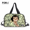 FORUDESIGNS Animals Large Gym Bag Sports Basketball Bags Round Women Fitness Yoga Mat Sport Bag for Travel and Outdoor Sports