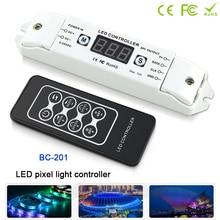 BC-201 Digital Addressable LED Pixel SPI Strip Controller Control 2801 2811 2812 6803 8806 IC 1000 Pixels Tape Lights DC5V-24V цена