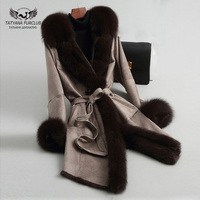 Tatyana Furclub Rabbit Fur Jacket Real Fur Coats For Women Winter Luxury Brand Robe Femme Hiver 2018 Park With Natural Fur Thin
