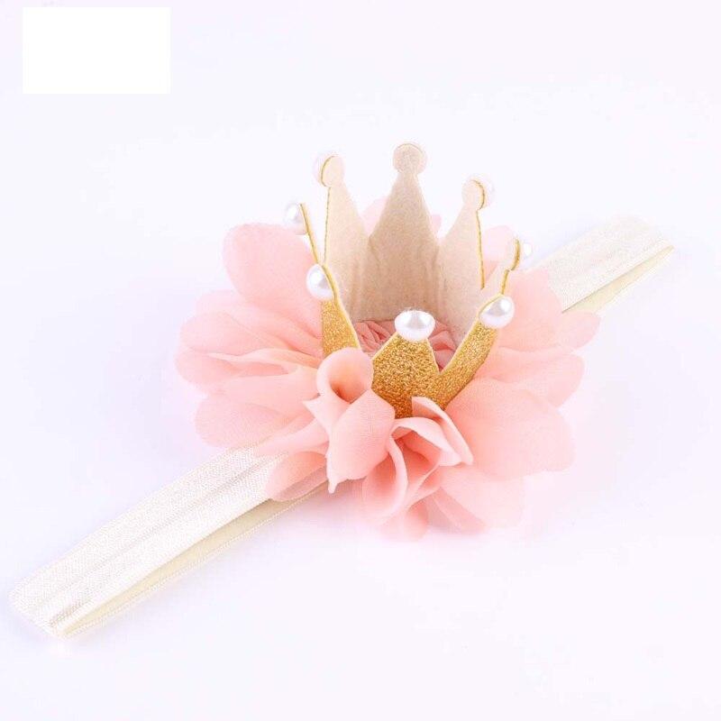 1PC Kid Girl Newborn Crown Princess Queen Crown Headband Hairband Pearl Tiara Lace   Headwear   Hair Band Accessories