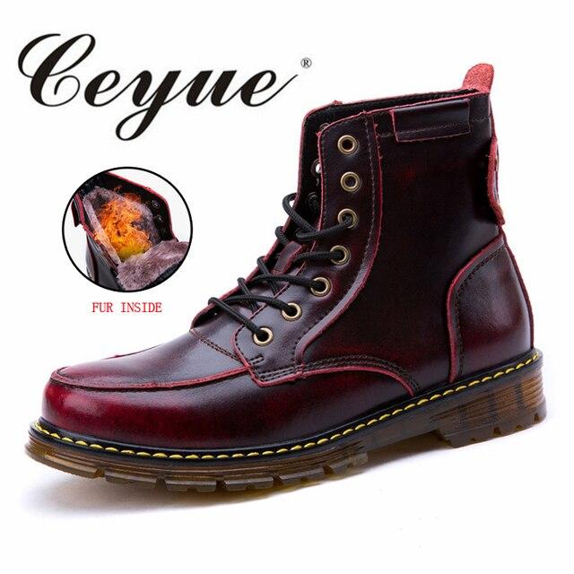 Ceyue Nouvelle Ville D hiver Bottes Hommes Marque de Marche En Cuir Hommes  Chelsea Bottes dd1886de635b
