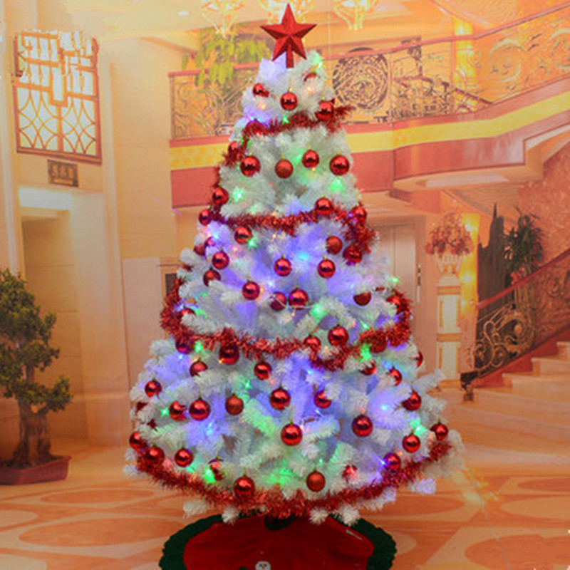 18 m 180cm white christmas tree package encryption christmas tree decorated in white suits festive - Decorative Christmas Packages