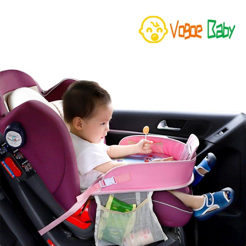 Mesa Crianças Mesa À Prova D' Água De Armazenamento Bandeja Do Assento de Carro carro Crianças Brinquedos Do Bebê Cerca Infantil Mesa de Jantar Bebida In-car acessórios