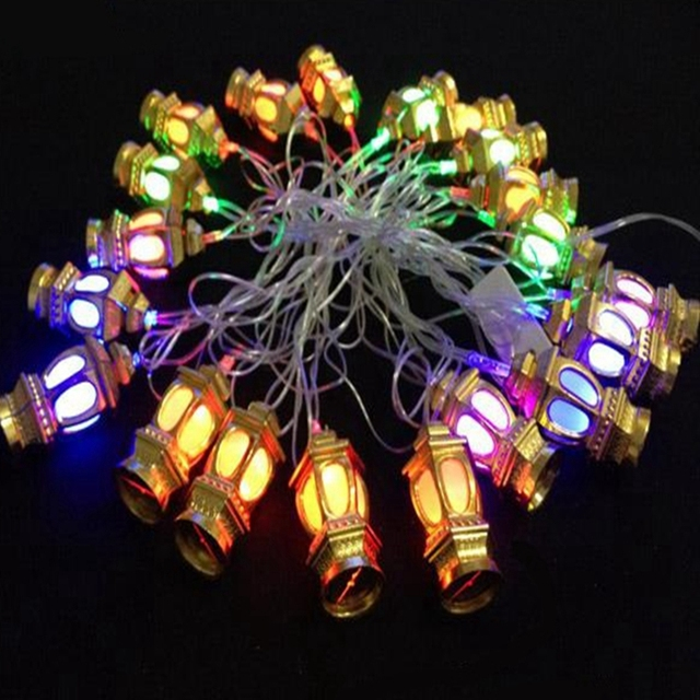Ac110v 220v 4m 20 Flashing Led Rgb Colourful Chinese Lantern String Lights For Christmas Holiday Wedding Home Party Decoration