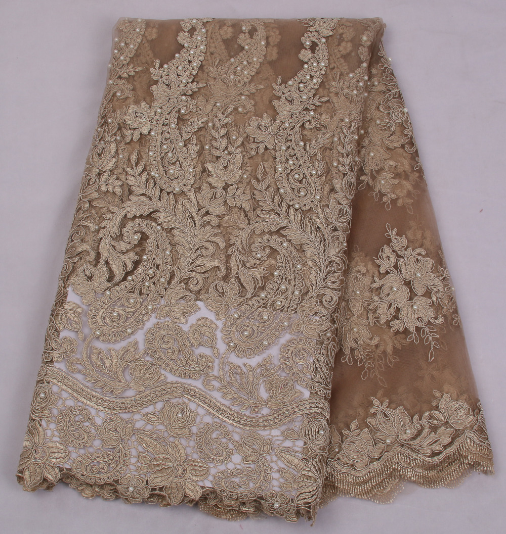 Grey African Lace Fabric 2018 High Quality Nigerian Fabrics For Wedding 2017 Beaded French Tulle Amy1315c 5 In From Home Garden On