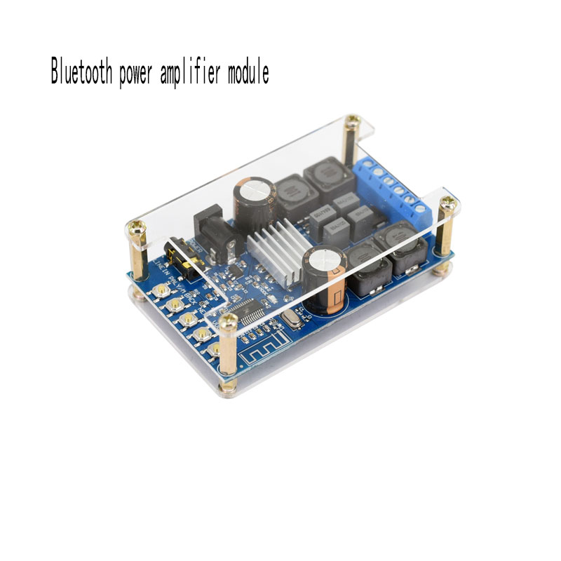 Bluetooth power amplifier module audio receiver 12V digital speaker car home conversion circuit board DIY