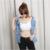 Mujeres Denim Agujero Chaleco Sin Mangas Diseño Ripped Patchwork Bolsillos Jeans Tops Marca Moda Loose Vaquero Chaleco Corto Abrigos S2284