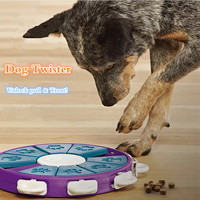 Dog Twister Game Pet Dog Puppy Unlock Pull & Treat Toy Pet Dog Educational IQ Training Interactive Toy Snack Food Feeder Toys