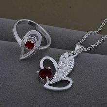 AS472 Hot 925 sterling silver Jewelry Sets Ring 621 + Necklace 998 /buyakmfa asyajkfa