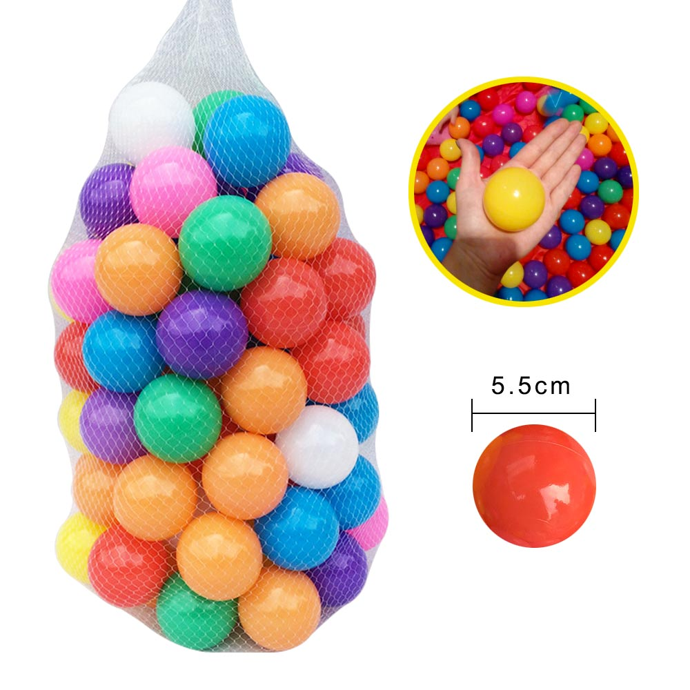 300 Pcs Lot Eco Friendly Plastic Ocean Ball Colorful Balls for The Dry Pool Ball Pits Soft Baby Kids Toys Outdoor Fun Sports in Toy Balls from Toys Hobbies