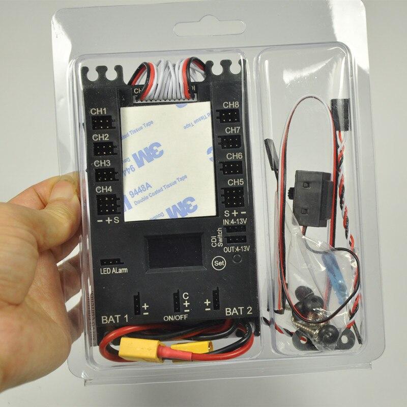Мини мощность DP Pro мини сервопривод раздел доска 9 каналов мощность коробка с BEC для газовой плоскости