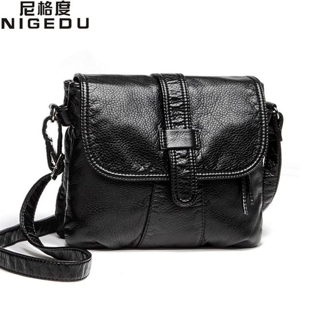 184bdc86dd502 Sac bandoulière femme cuir souple sac bandoulière femme décontracté sac à  main femme noir bolsa feminina