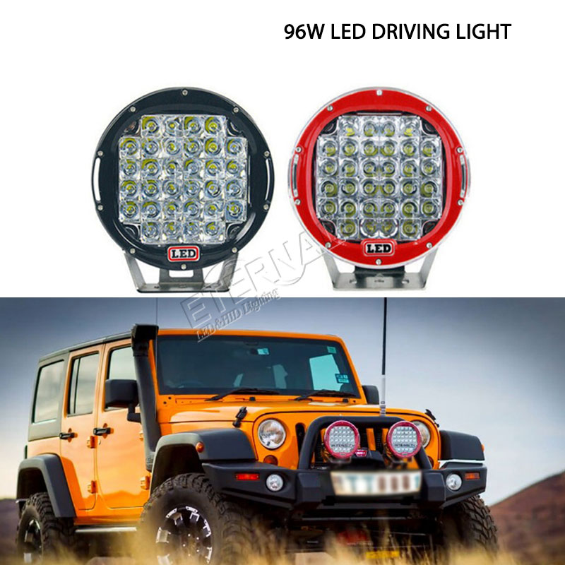 Pair 96W ARB LED driving light spot beam work light for off road 4x4 ATV SUV trucks mining machine excavtor heavy duty