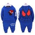 0-24 M Primavera Outono Crianças Recém-nascidas Set Spiderman Meninos Roupas de Manga Longa T-shirt Tops + Calças Roupa Do Bebê conjunto de Roupas Terno Dos Esportes