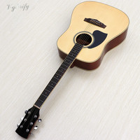 factory made left hand electro acoustic guitar