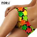 FORUDESIGNS Women Underwear Panties Thongs Super Colro Five Point Star Seamless Panty Breathable Female Underwear Briefs Bragas