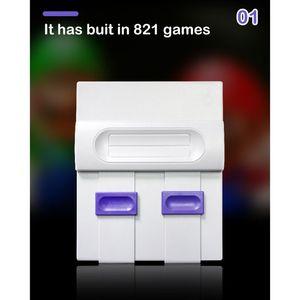 Image 3 - Süper MINI SNES NES Retro klasik Video oyunu konsolu TV oyunu oynatıcı dahili 821 oyunları çift oyun klavyeler