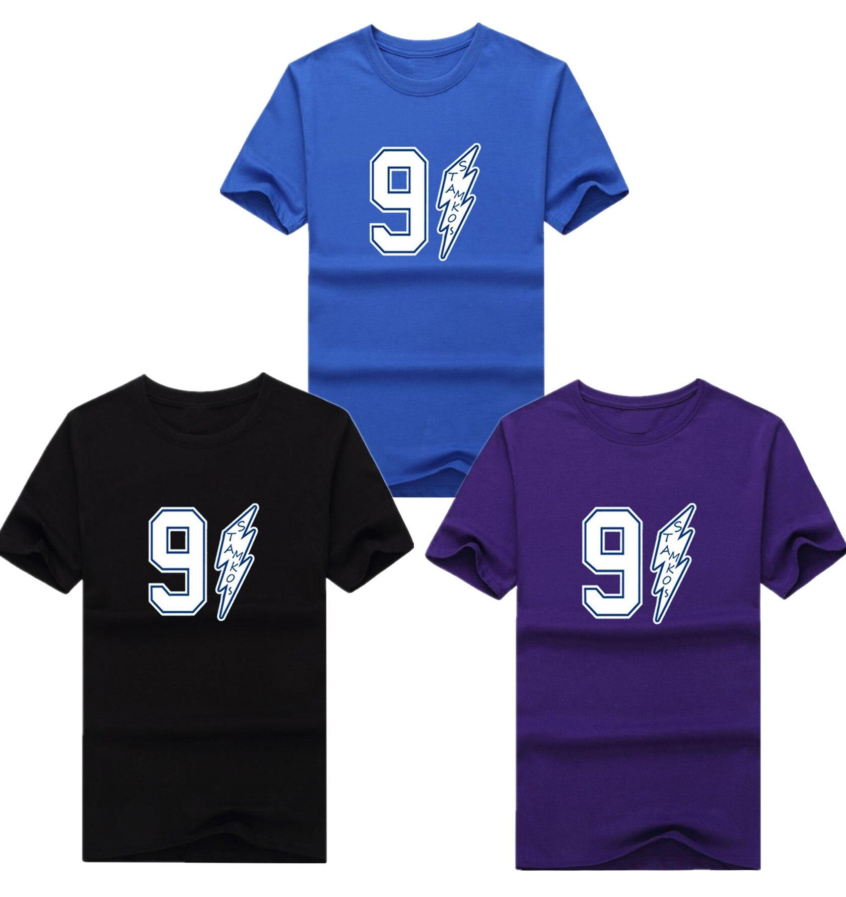Shirt design tampa - 2017 Tampa Bay Lightning Men S Short Sleeve 91 Stamkos Captain Fans T Shirts Training Cotton Tee Shirt