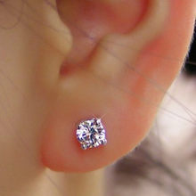 Fashion chic Austrian crystal earrings for women 2 Pairs/lot wholesale cute jewelry free shipping(China)