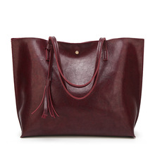 Fashion Shoulder Bag Big Capacity Female Tassel Hand bag Ladies PU Leather Crossbody Bag Designer Women Bag Top-Handle Handbags fashion leather handbags big bag top layer leather handbag ladies shoulder bag platinum bag tide