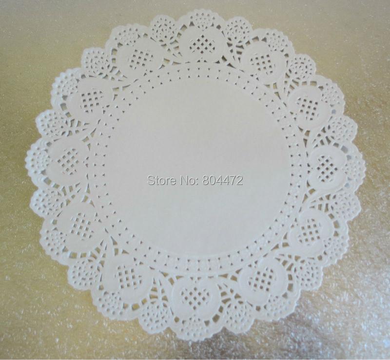 180 Pieces White Lace Paper Doilies Round Paper Doily Wedding Decor