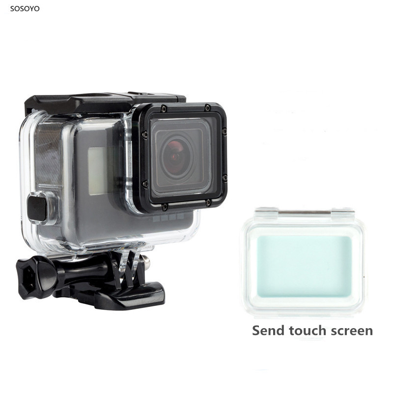 separation shoes 3ab03 22c9f US $12.39 14% OFF Waterproof Case Underwater 60M Protective Housing with  Touch screen Back Door For Gopro Hero 5 6 7 black Camera Accessories-in ...