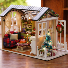 CUTEBEE muñeca casa miniatura DIY muñecas con muebles de casa de madera de juguetes para los niños de vacaciones Z009