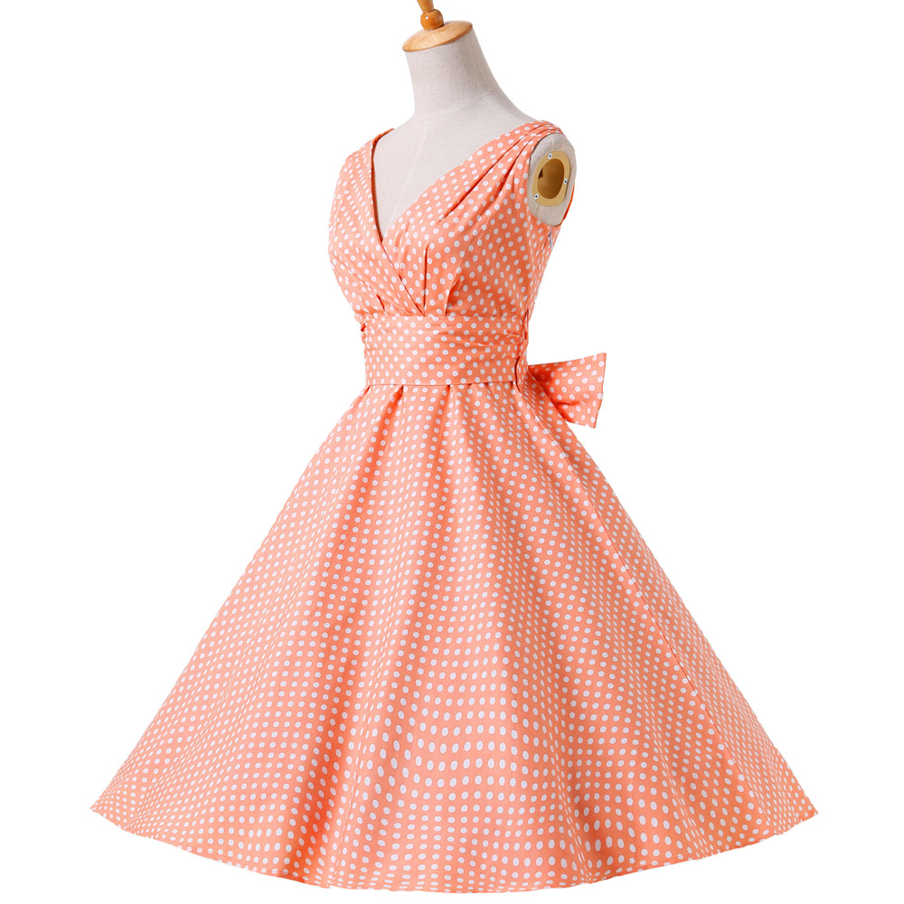 3f2265714b0 Belle Poque Womens Summer Dresses 2018 Women Maggie Tang 50s 60s Robe Vintage  Retro Pin Up Swing Polka Dot Tea Rockabilly Dress-in Dresses from Women s  ...