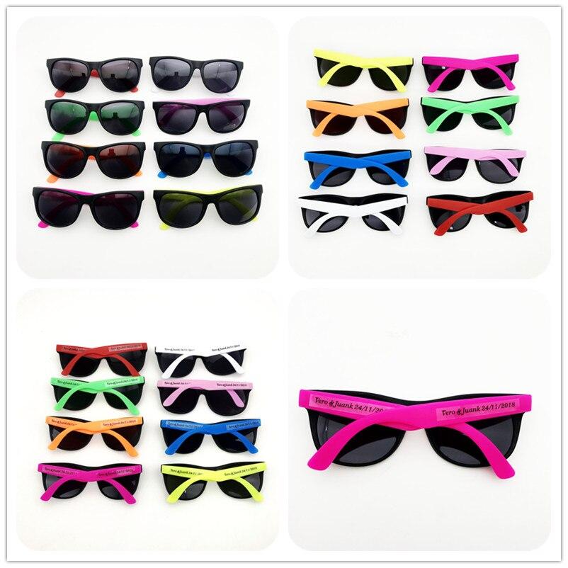 >48 pairs/lot Customized Party Sunglasses Souvenirs Wholesale Unisex 80'S Retro <font><b>Style</b></font> Bulk Wedding Favors Travel Party Favor Lot