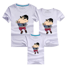 Family Look Funny T-shirt 2016 Harajuku Skate Sport Brand Clothing Cotton Men Tshirt Polera T Shirt Mother Kids Daughter Outfits