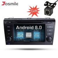 Android 8,0 автомобильный DVD мультимедийный плеер для MAZDA 3 2004 2009 WiFi, радио, GPS Навигация Аудио SWC BT 4G ram 32G rom Восьмиядерный TPMS