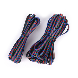 5M 4 PIN RGB Led Wire Cable LED RGB Cable Extension Wire Cord For RGB Rgbw Single Color 5050 3528 LED Strip Light