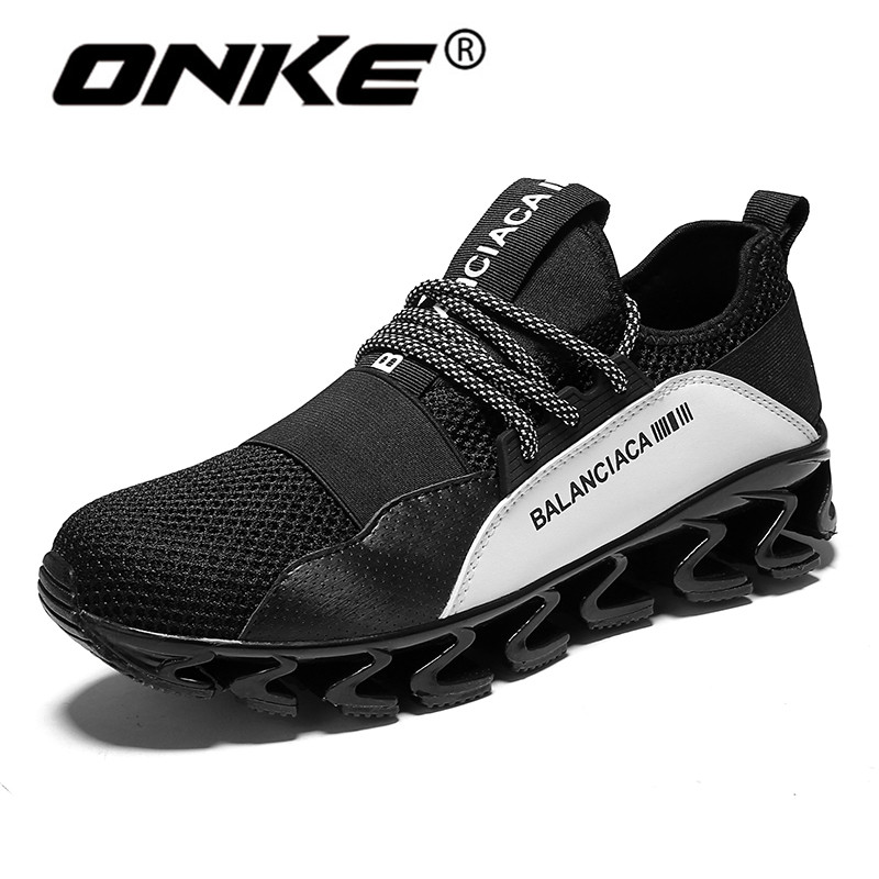 Onke Popular Trend Blade Sneakers for Men Breathable Reflective Mesh Running Shoes Wearable Sports Man Sneakers Zapatillas