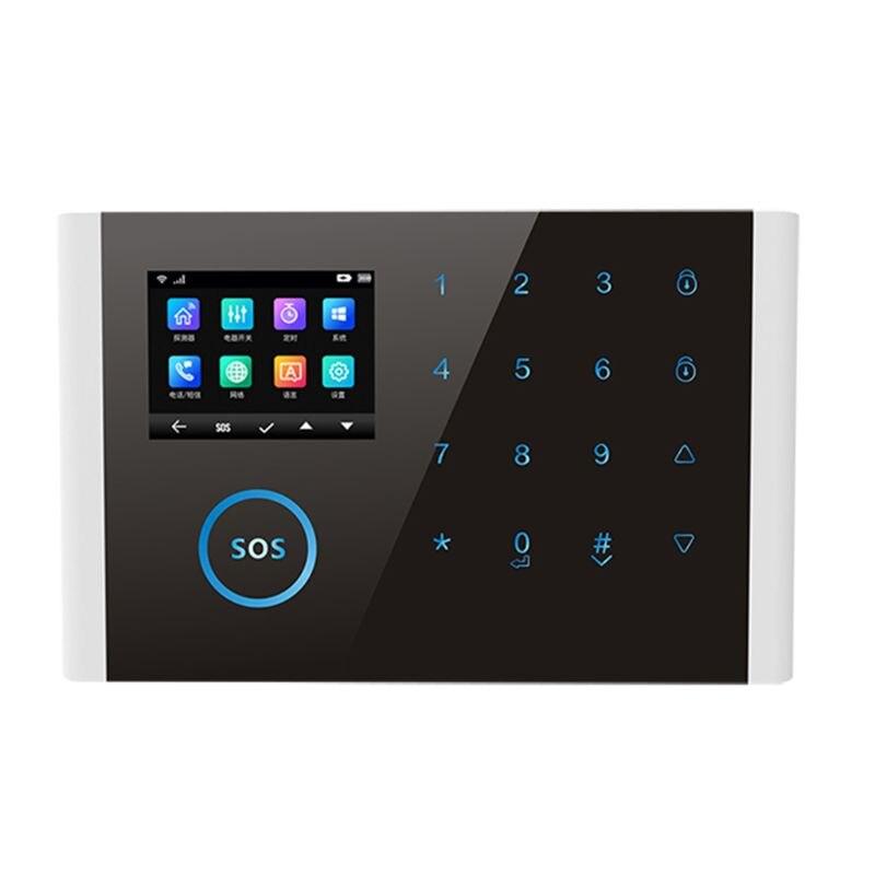 1 juego CS108 inalámbrico WIFI GSM GPRS sistema de alarma inteligente Aplicación Control Remoto tarjeta RFID Kit de seguridad para el hogar con pantalla SOS botón
