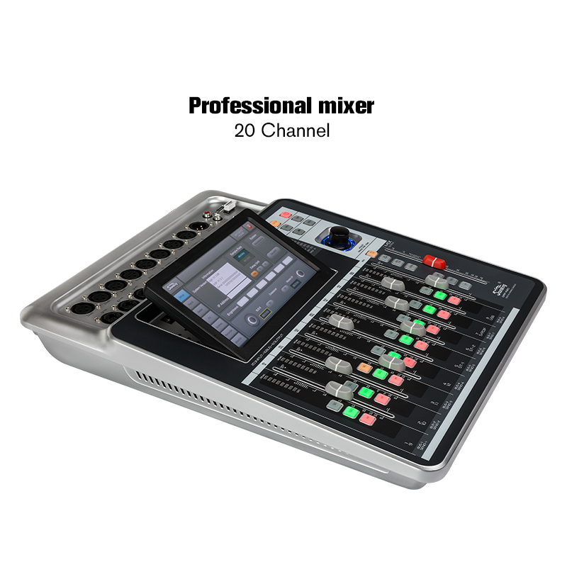 Soundking High quality Mixer Pro Audio D-Touch 20 Digital Mixing Console Touchscreen WiFi 20-Inputs/16-Bus/8-Outs hot sale A20 audio mixer cms1600 3 cms compact mixing system professional live mixer with concert sound performance digital 24 48 bit effects