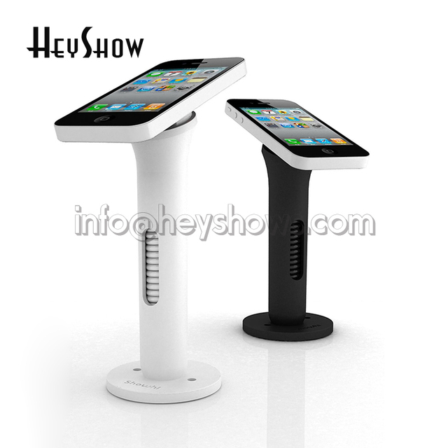 Mobile Phone Security Stand Cell Phone Display Holder White And Simple Cell Phone Display Stands