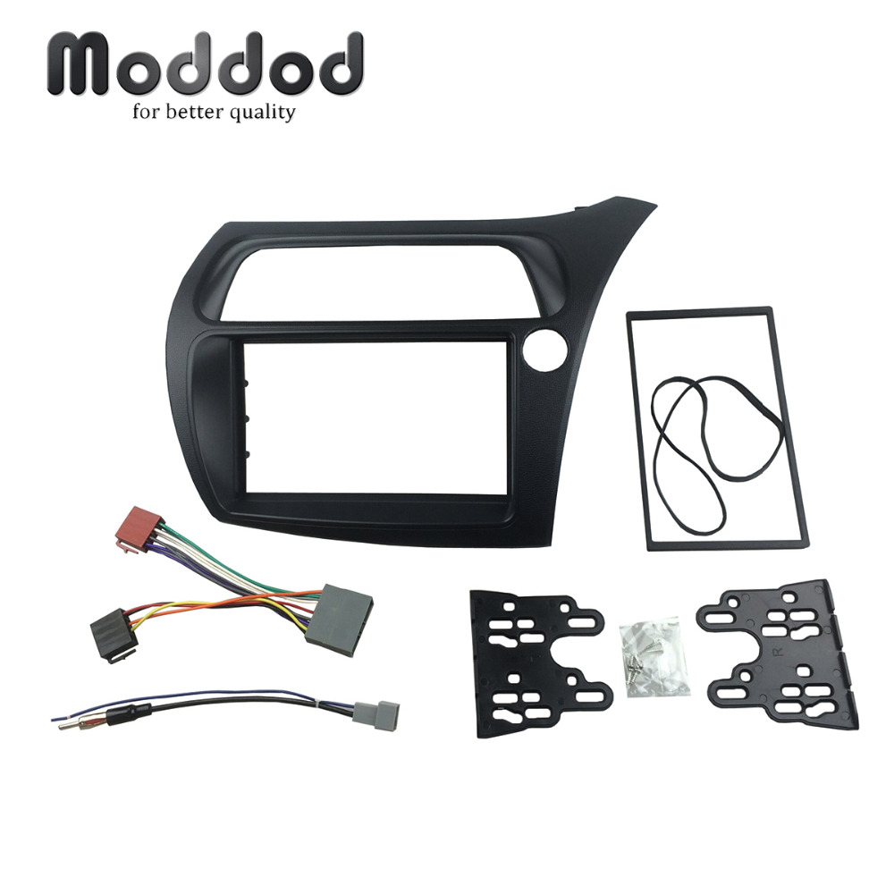 Double Din Fascia For Honda Civic Radio DVD Stereo Panel Dash Installation Trim Kits Dashboad Frame