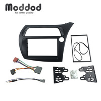 Double Din Fascia For Honda Civic Radio DVD Stereo Panel Dash Installation Trim Kits Dashboad Frame with Wire Harness Antenna
