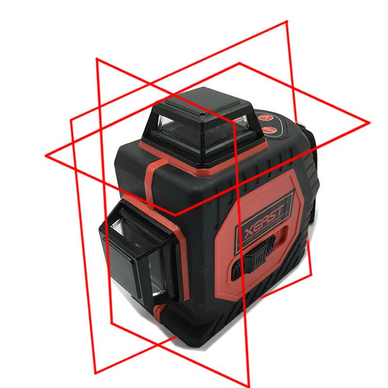 12Line 3D laser level 360 Vertical And Horizontal 3D Laser Level Self-leveling Red Beam with Lithium battery free shipping highly visible line laser kapro 810 with vertical and horizontal vials