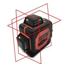 12 Ligne 3D laser niveau 360 Vertical Et Horizontal 3D Laser Niveau Auto-mise à niveau Rouge Faisceau avec batterie Au Lithium