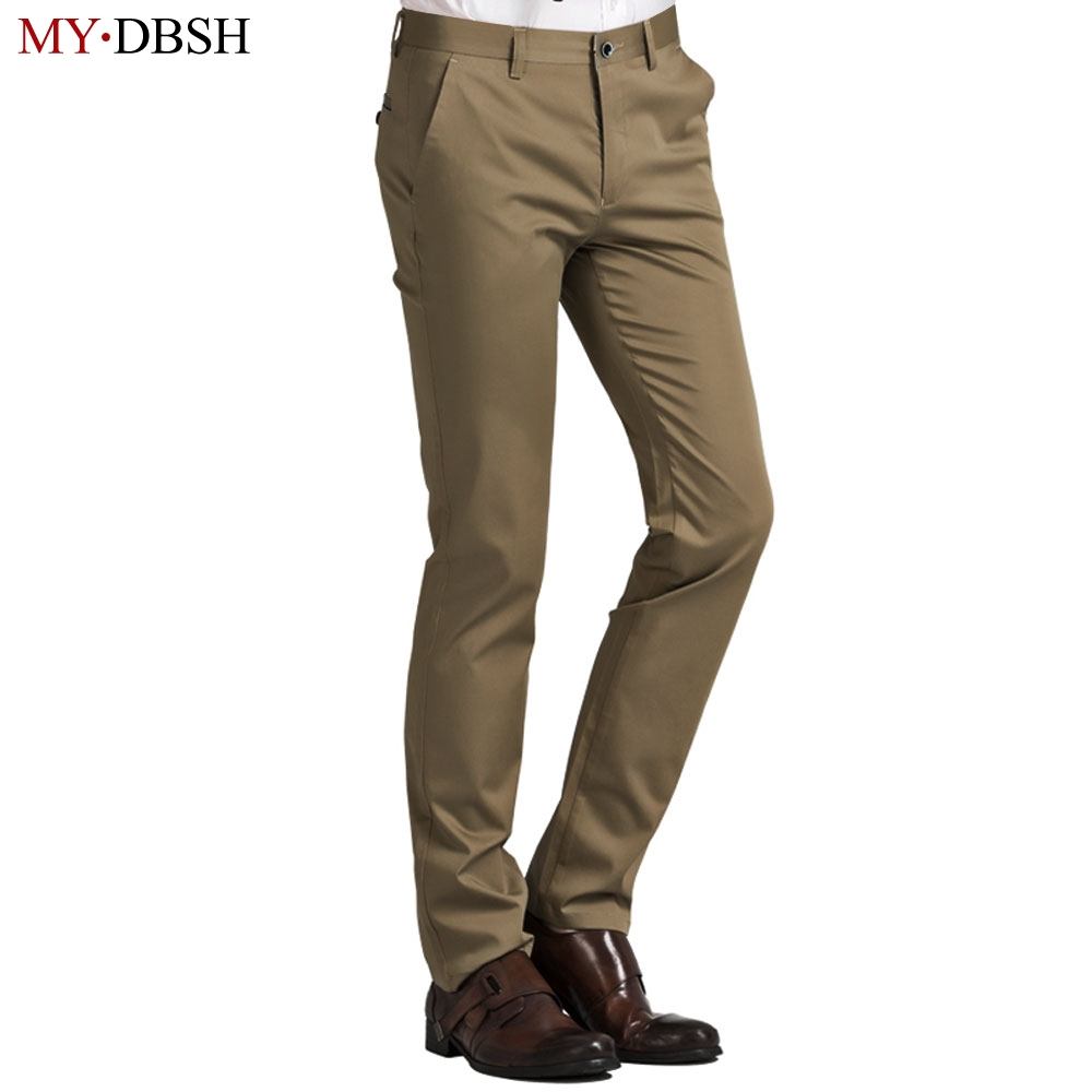 New Fashion Men Casual Pants Classic Straight Blue Pants Men Work Pants Quality Business Male Trousers Cotton Broadcloth Size 40