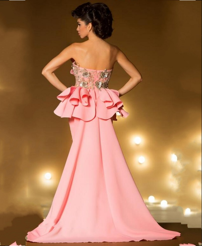 Sexy Pink Long Evening Dress 2016 New Arrival Formal Dresses Party ...